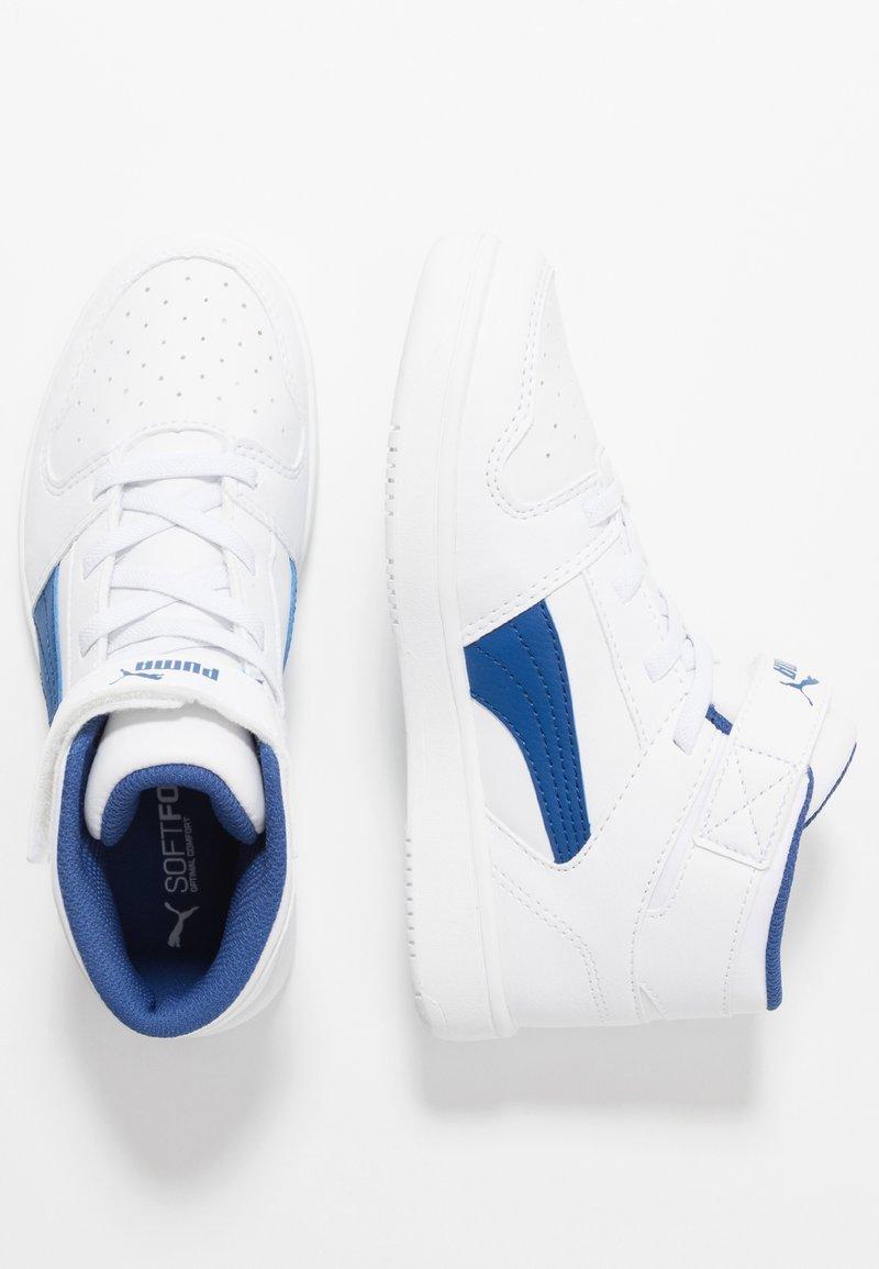 Puma - REBOUND LAYUP - Sneaker high - white/galaxy blue