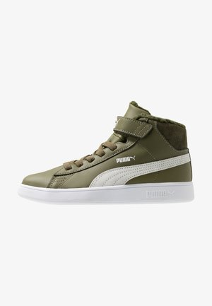 SMASH MID - Baskets montantes - burnt olive/white