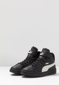 Puma - SMASH MID - Korkeavartiset tennarit - black/whisper white - 3