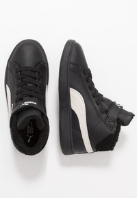 Puma - SMASH MID - Korkeavartiset tennarit - black/whisper white - 0