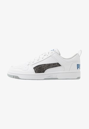 REBOUND LAYUP GARMENT WASHED - Sneakers laag - white/black/bright cobalt/high rise