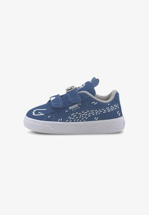 PUMA SUEDE  - Baby shoes - bright cobalt-puma white