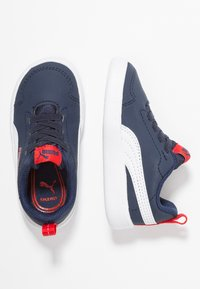 Puma - COURTFLEX - Mocassins - peacoat/white - 0