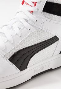 Puma - REBOUND LAYUP - High-top trainers - white/black/high risk red - 2