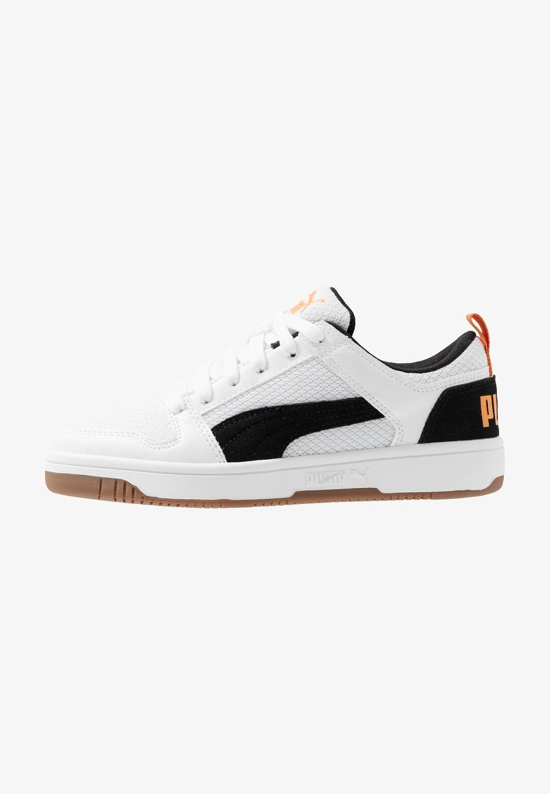 Puma - REBOUND LAYUP MESH - Zapatillas - white/black/jaffa orange