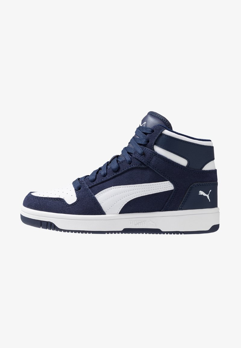 Puma - REBOUND LAYUP - Sneakers high - peacoat/white