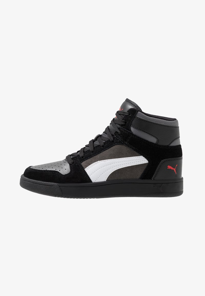 Puma - REBOUND LAYUP - Sneakers high - black/castlerock/white/high risk red