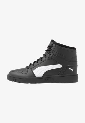 REBOUND LAYUP - High-top trainers - black/white