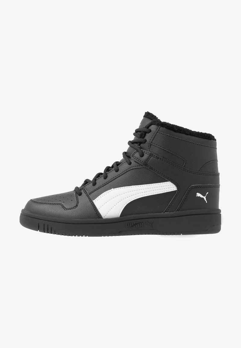 Puma - REBOUND LAYUP - Sneakersy wysokie - black/white