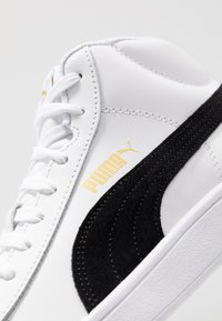 Puma - SMASH MID - Sneakersy wysokie - white/black/team gold/high rise - 5