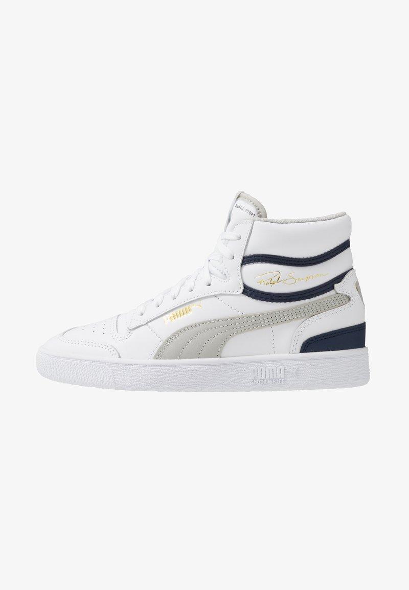 Puma - RALPH SAMPSON MID - Sneaker high - white/gray violet/peacoat
