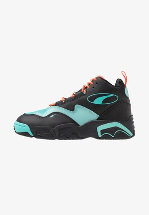 SOURCE MID BUZZER - High-top trainers - black/nrgy red/blue turquoise