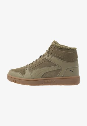 REBOUND LAYUP - High-top trainers - burnt olive/black