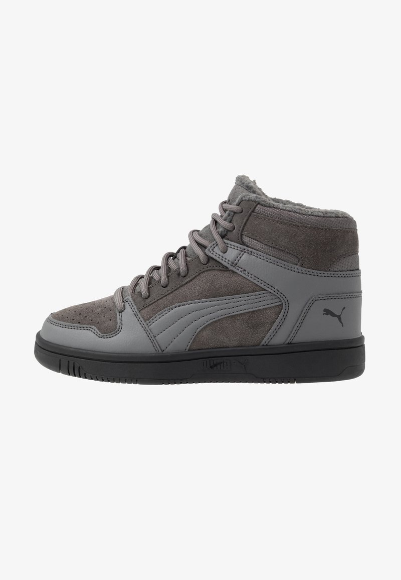 Puma - REBOUND LAYUP - High-top trainers - castlerock/black