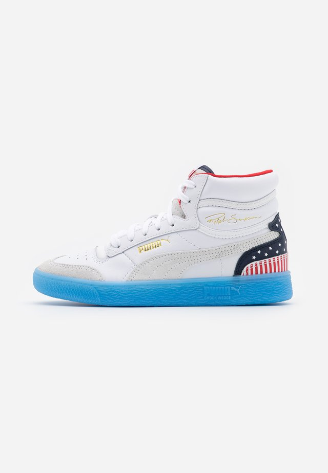 RALPH SAMPSON MID 4TH OF JULY - Vysoké tenisky - white/peacoat/high risk red