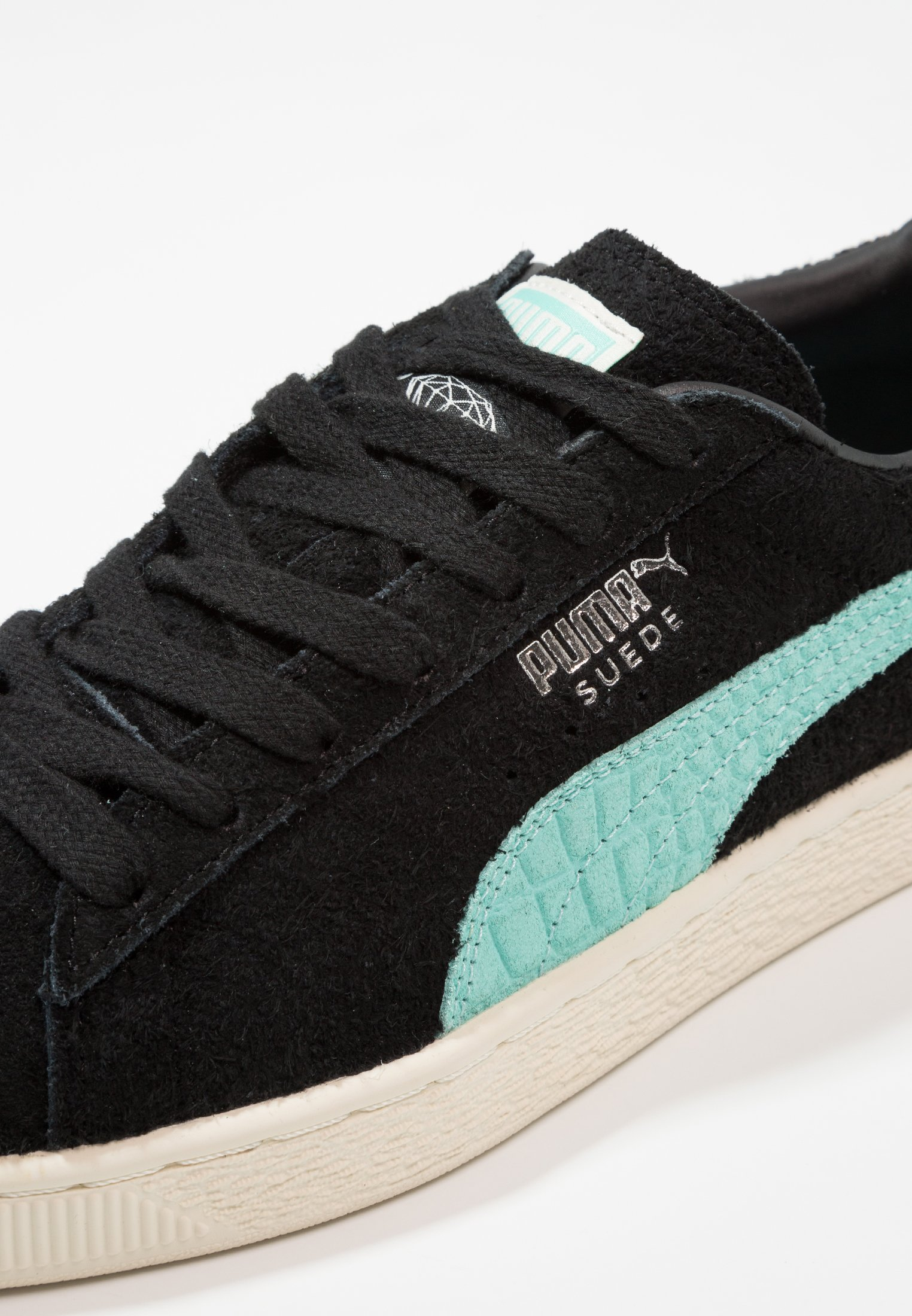 puma x DIAMOND Suede Puma Black Diamond Blue bij