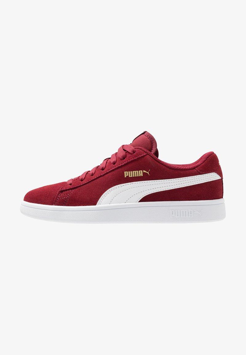 Puma - SMASH V2 - Sneaker low - rhubarb/team gold/white