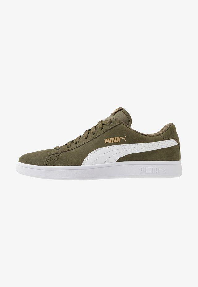SMASH V2 - Sneakersy niskie - burnt olive/white/team gold