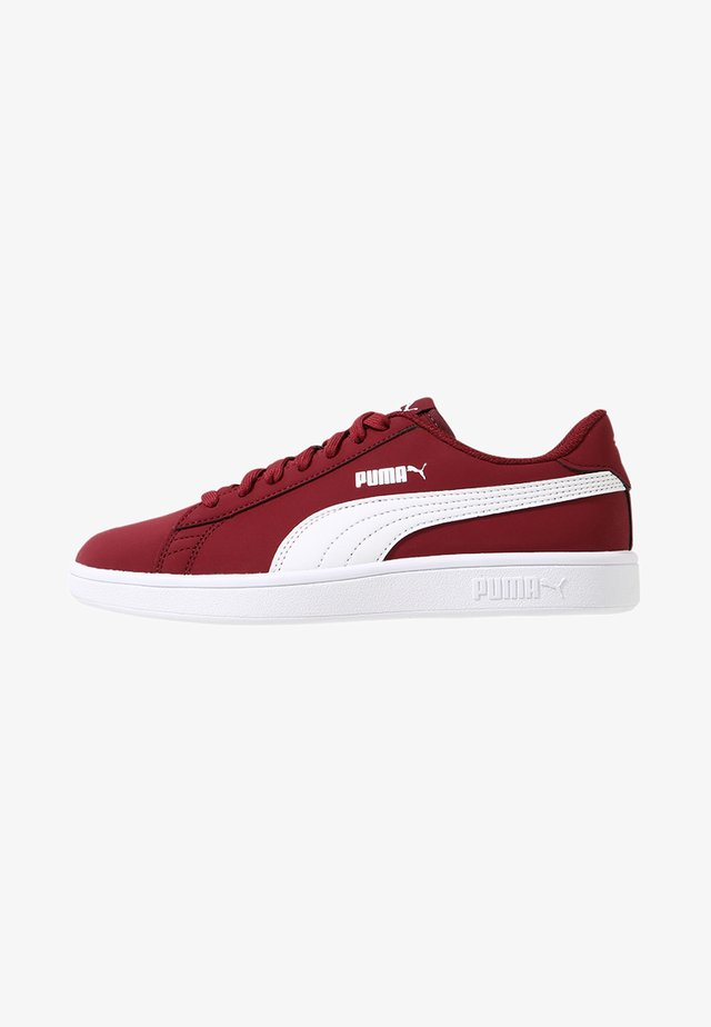 SMASH V2 BUCK - Matalavartiset tennarit - pomegranate/puma white