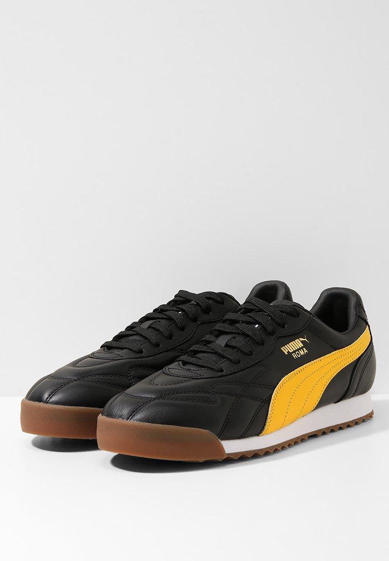 Roma AnniversarioBaskets Black Puma spectra Yellow Basses hQdtrs