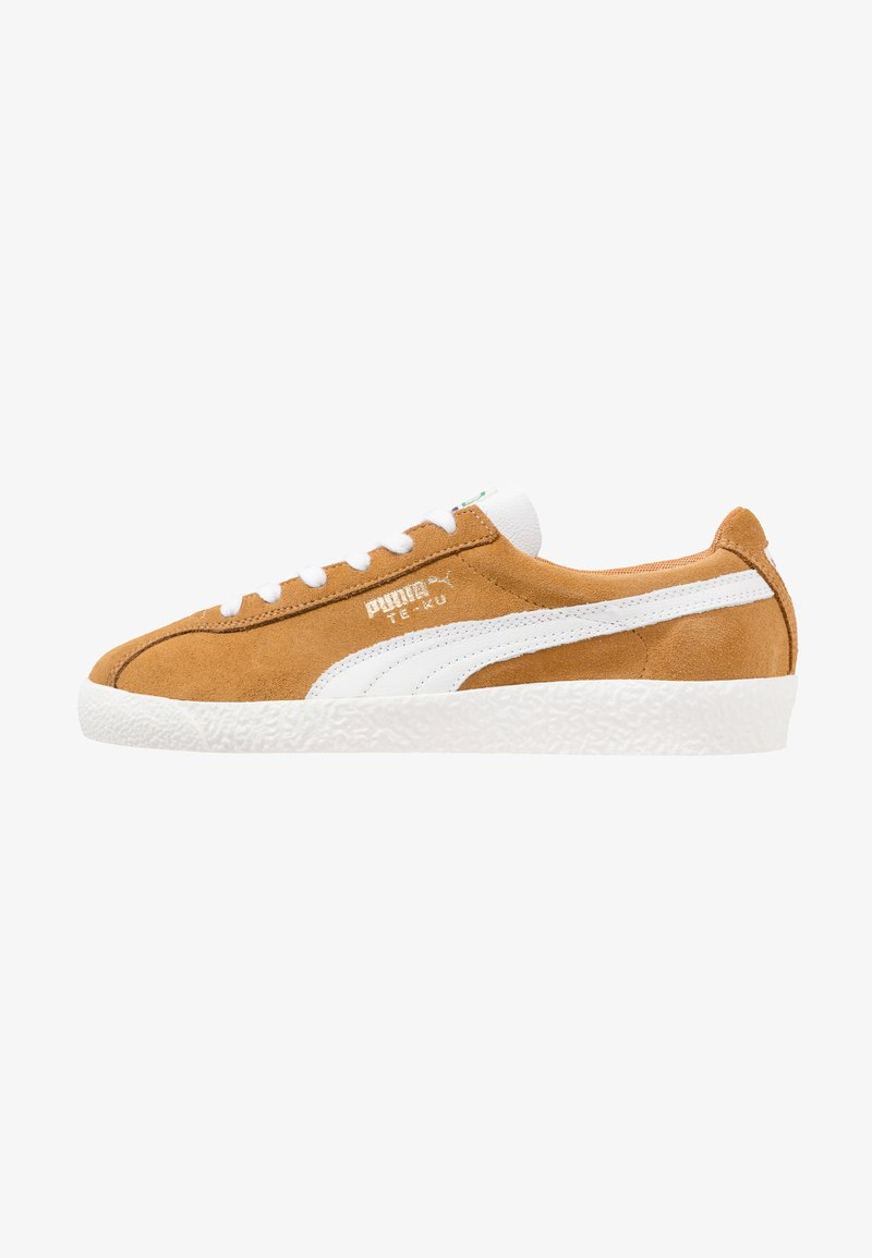 Puma - TE-KU PRIME - Sneaker low - buckthorn brown/white