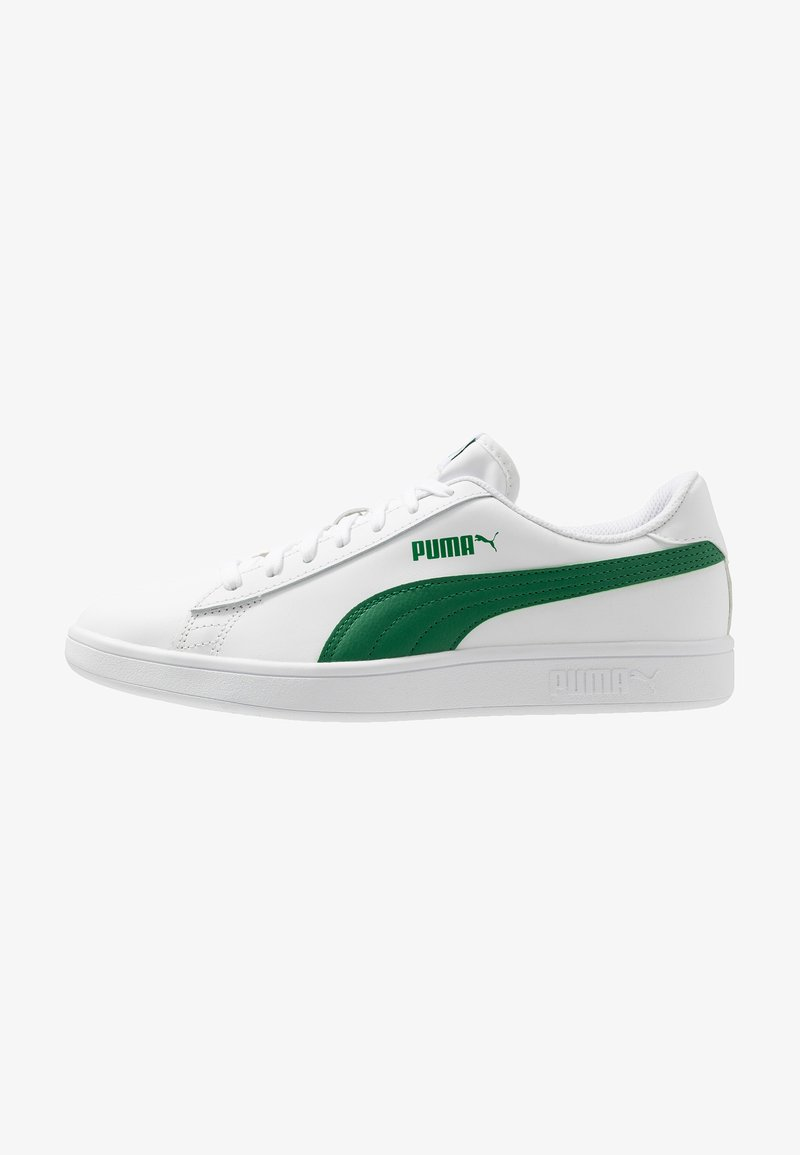 Puma - SMASH - Sneakers laag - white/amazon green