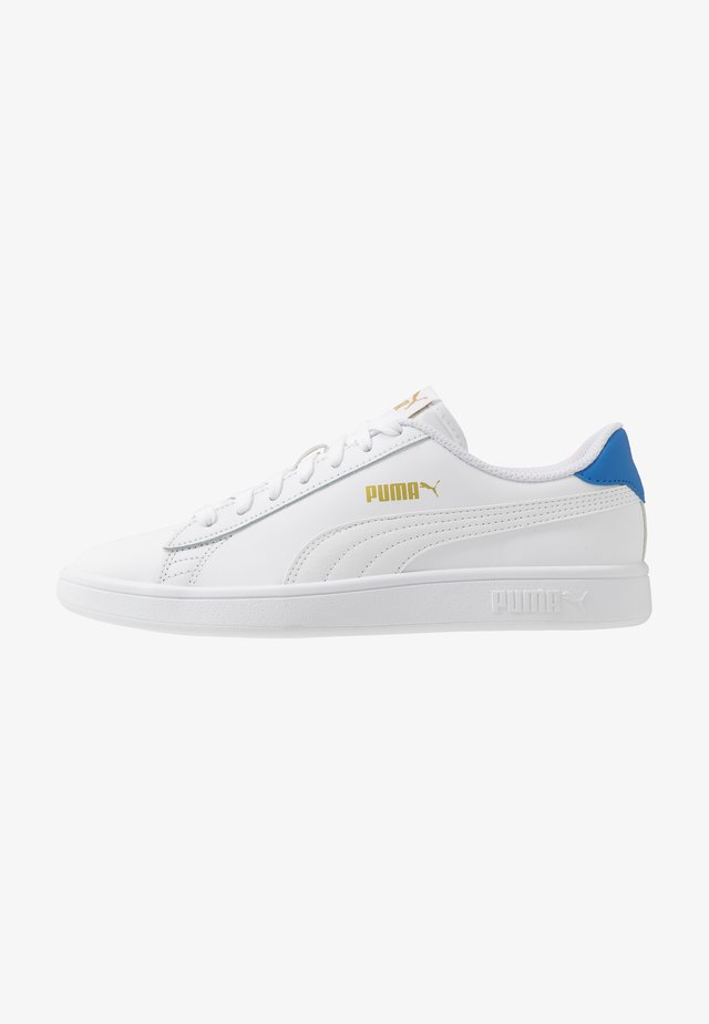 PUMA SMASH V2 L - Trainers - white/palace blue/team gold