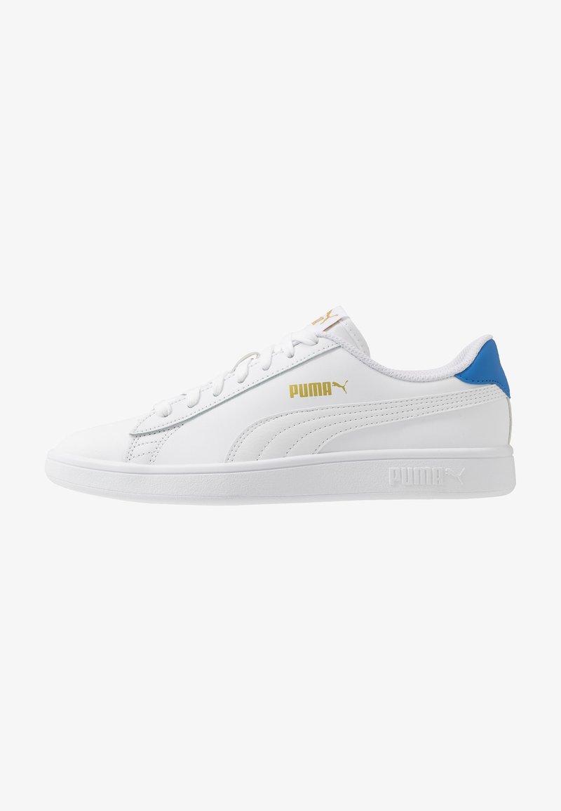 Puma - SMASH - Zapatillas - white/palace blue/team gold