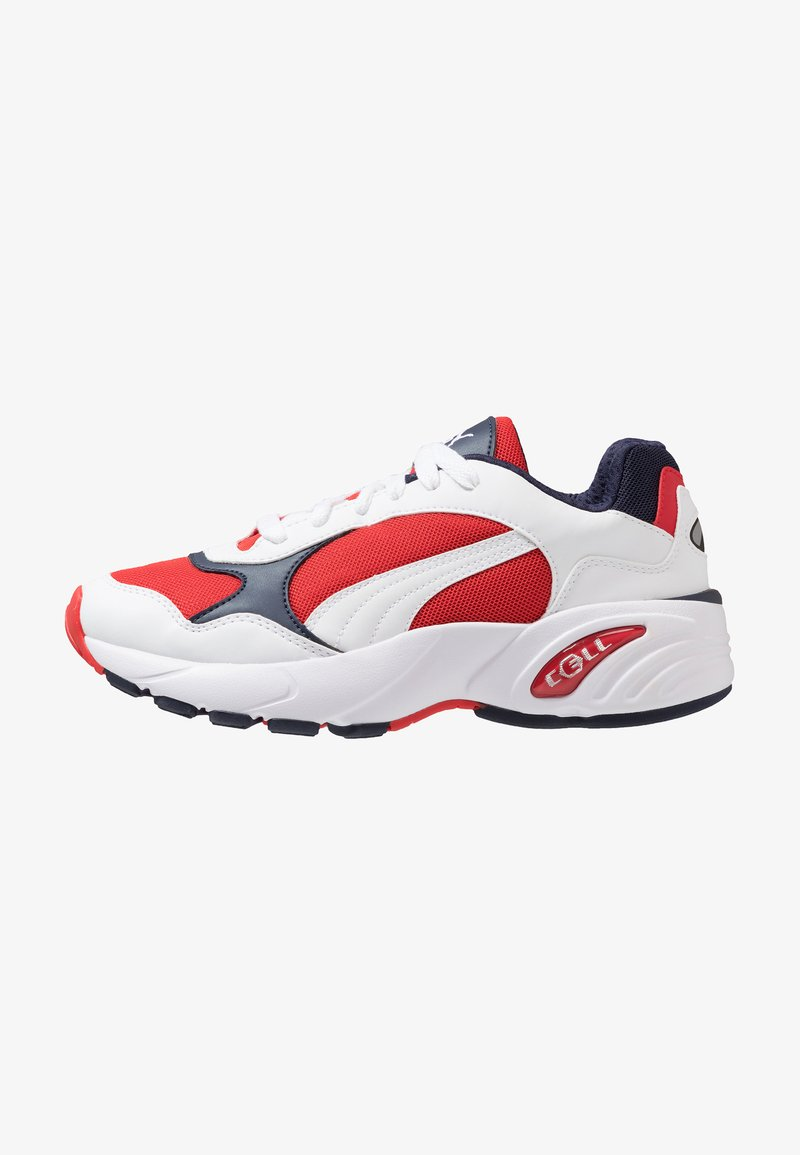 Puma - CELL VIPER - Sneakers - white/high risk red