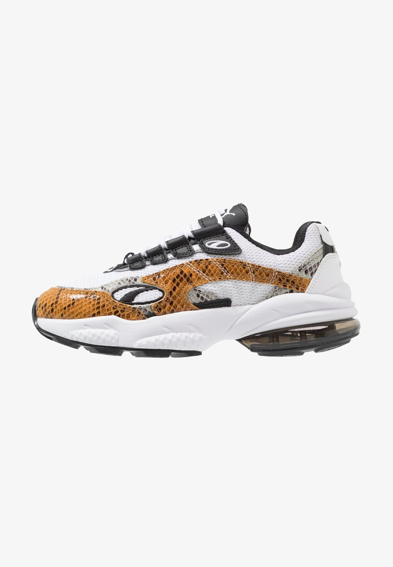 Puma - CELL KINGDOM - Sneaker low - white/golden orange