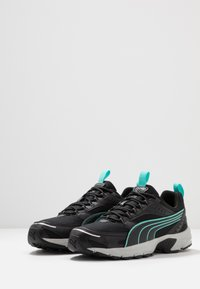 Puma - AXIS - Sneaker low - black/blue turquoise/castlerock/silver/high rise - 2