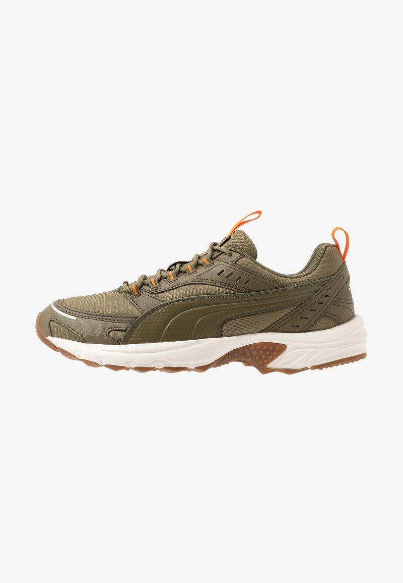 Puma - AXIS - Sneaker low - burnt olive/jaffa orange/silver/whisper white