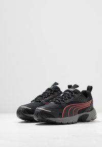 Puma - AXIS - Sneakers - black/high risk red/silver - 2
