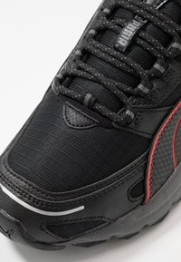 Puma - AXIS - Sneakers - black/high risk red/silver - 5