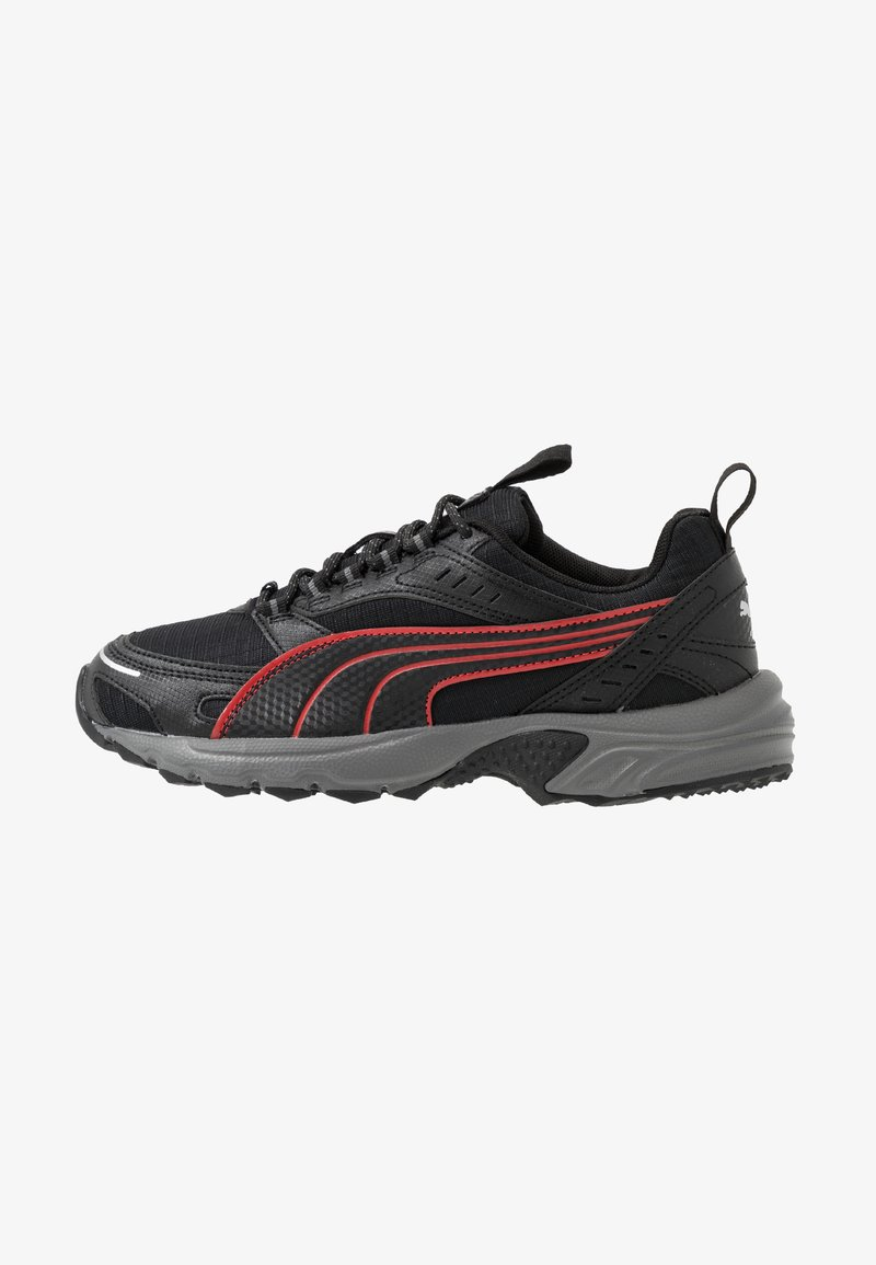 Puma - AXIS - Sneakers - black/high risk red/silver