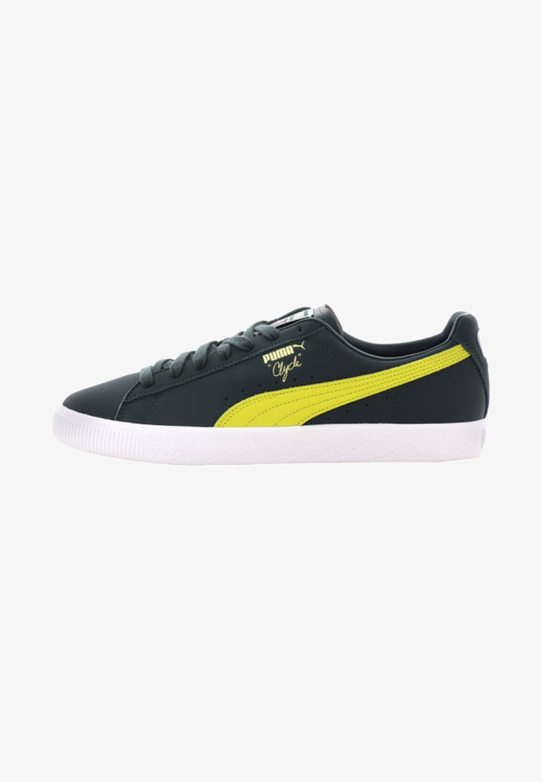 Puma - CLYDE CORE - Baskets basses - yellow/puma white