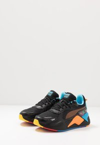 Puma - RS-X X TETRIS - Baskets basses - black/luminous blue - 2