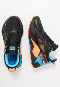 Puma - RS-X X TETRIS - Baskets basses - black/luminous blue - 1