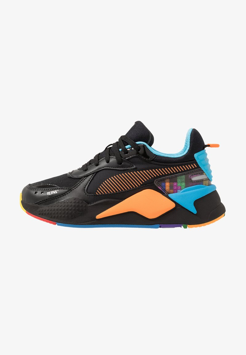 Puma - RS-X X TETRIS - Baskets basses - black/luminous blue