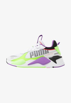 RS-X BOLD - Trainers - white/green gecko/royal lilac