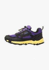 purple corallites/black