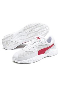 Puma - STORM STREET - Baskets basses - white/high risk red - 3