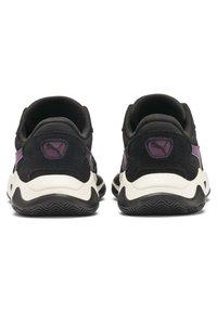 Puma - STORM STREET - Sneakers laag - black/plum purple - 4