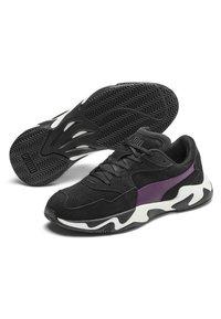 Puma - STORM STREET - Sneakers laag - black/plum purple - 3