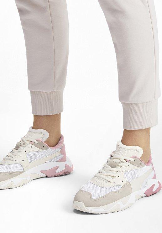 PUMA STORM ORIGIN TRAINERS UNISEX - Sneakers laag - pastel parchment white
