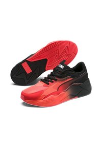 Puma - RS-X TACTICS - Baskets basses - lava blast- black-me silver - 2