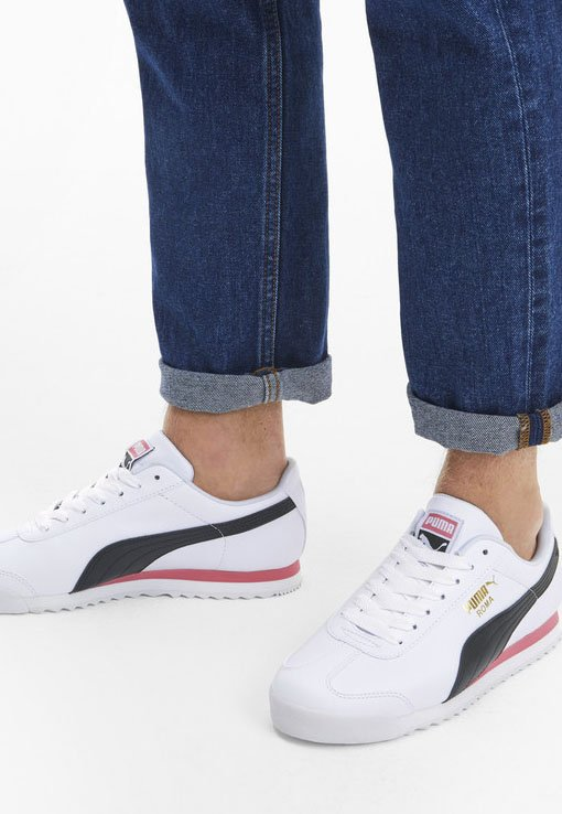 ROMA  - Sneakers - puma white/bubblegum