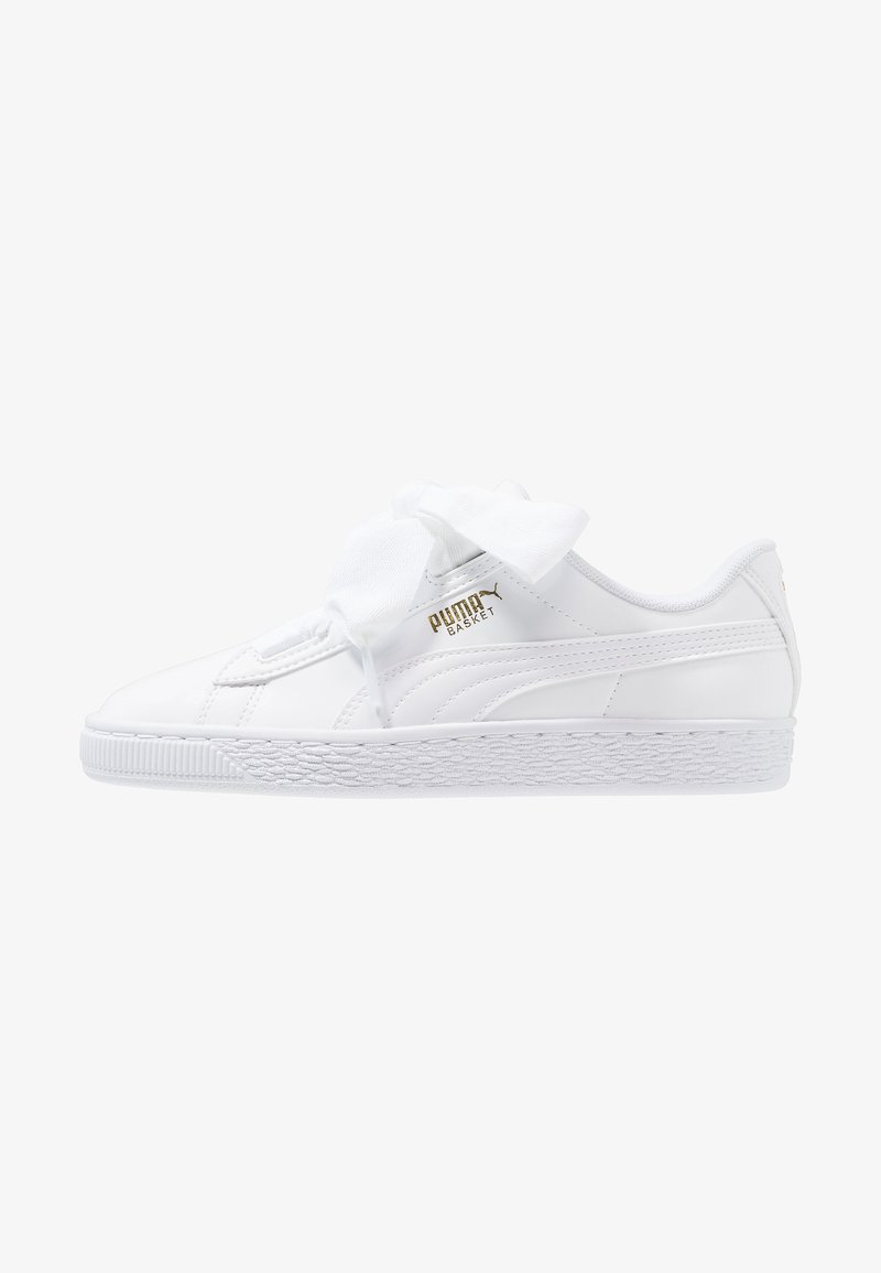 Puma - BASKET HEART - Sneakers - white/black/prism pink/gold