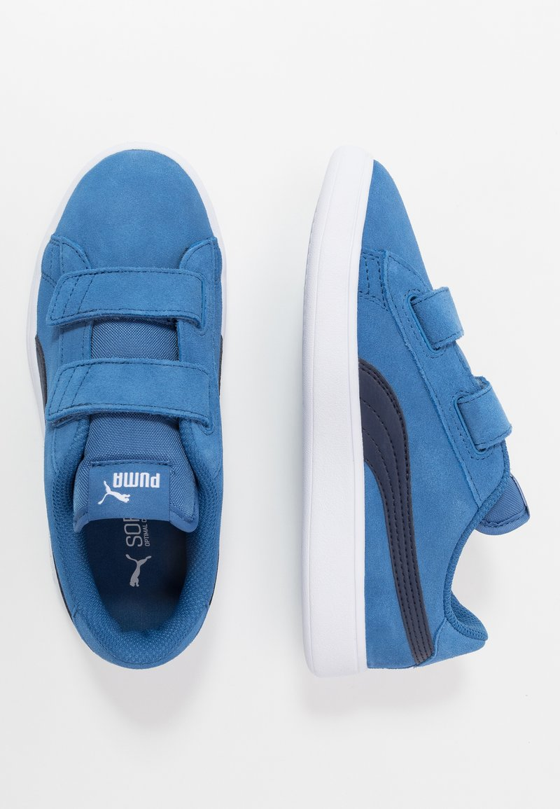 Puma - SMASH - Baskets basses - bright cobalt/peacoat/white