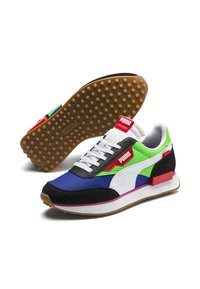 Puma - PUMA FUTURE RIDER PLAY ON YOUTH TRAINERS UNISEX - Trainers - pumab-fluogreen-dazzlingblue - 5